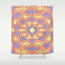 Arabesque 3D - Color: Sunset Hues Shower Curtain