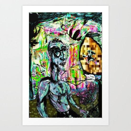 Metroplolitan Tech Man Art Print