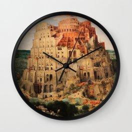 The Tower of Babel by Pieter Bruegel the Elder Wall Clock