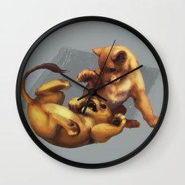 Simba and Nala Wall Clock