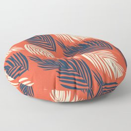 Orange Palms Floor Pillow