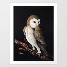Barn Owl Painting Art Print