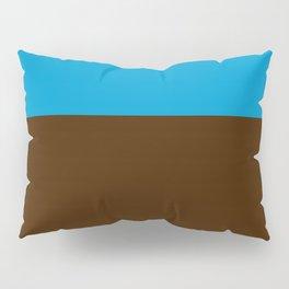 Tri-Color [Blue, Chocolate, Tan] Pillow Sham