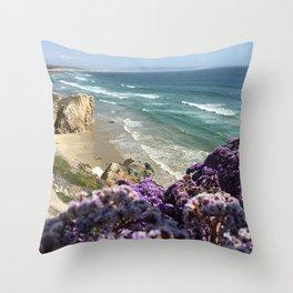 Shell Beach Beauty Throw Pillow