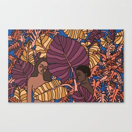 Portrait of Two Women at Night Canvas Print