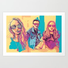 Digital Drawing #30 - Vinci Family (All Three) Art Print