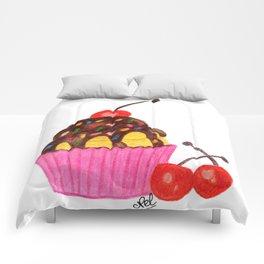 Cherry cupcake Comforters