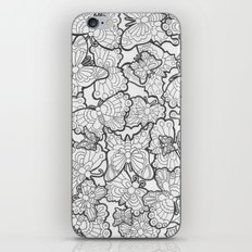 Butterfly Conservatory (Black and White) iPhone & iPod Skin