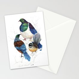 thee birds in a tree Stationery Cards