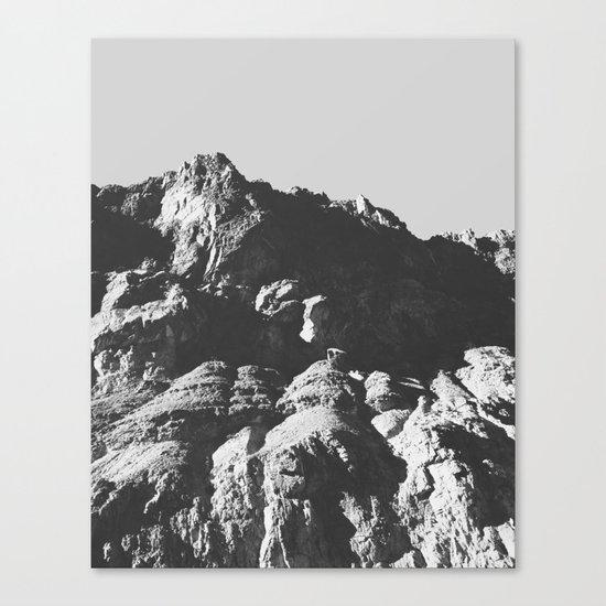 Black & White Mountains Canvas Print