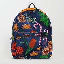 Australian Native Floral Christmas Pattern Backpack
