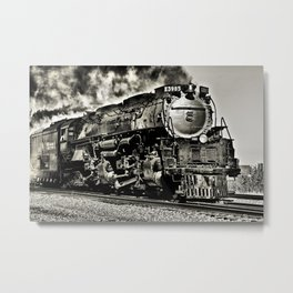 Union Pacific Steam Locomotive at Topeka Kansas Metal Print