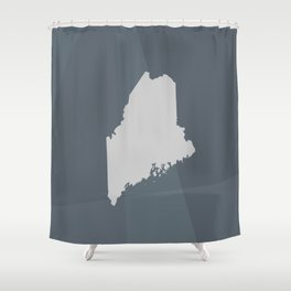 Maine State Shower Curtain