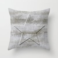 solid Throw Pillows featuring Solid Star by LebensART