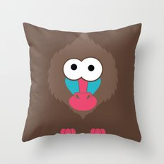 Minimal Baboon Throw Pillow