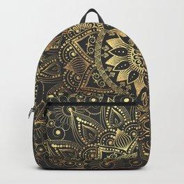 Elegant gold mandala artwork Backpack