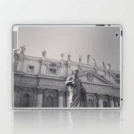 St. Peter's Basilica, Vatican City, Rome, architecture photography, black & white, Baroque Laptop & iPad Skin