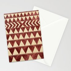 Vintage Material Triangles Stationery Cards