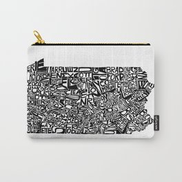 Typographic Pennsylvania Carry-All Pouch