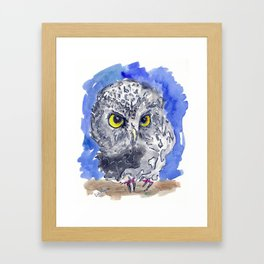 Watching (really watching) Framed Art Print