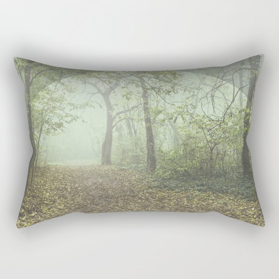 Walk in the Surreal Misty Forest Rectangular Pillow