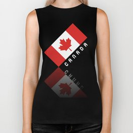 Elegant Maple Leaf Canada Biker Tank