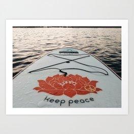Keep Peace Art Print