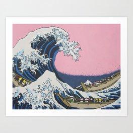 Sushi Waves Art Print