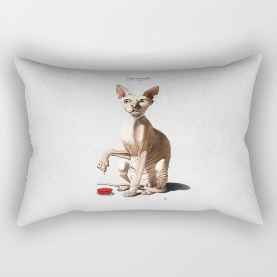 Cat-astrophe Rectangular Pillow