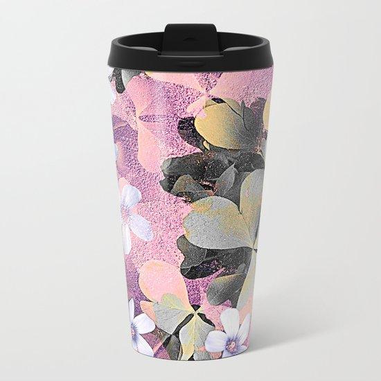 Lucky clover pink Metal Travel Mug