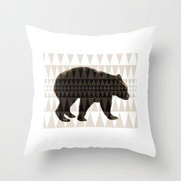 tritri bear Throw Pillow