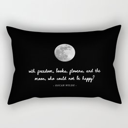 Freedom, Books, Flowers, & The Moon Rectangular Pillow