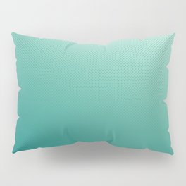 Mermaid Teal Ombre with Little Dots Pillow Sham