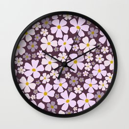Cheery Blooms Wall Clock
