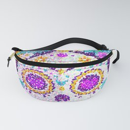 colorful skull Fanny Pack