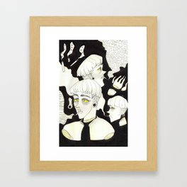 ouch! sorry! Framed Art Print