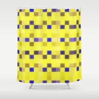 "pixel Shower Curtains featuring ""Pixel"" by Mr and Mrs Quirynen"