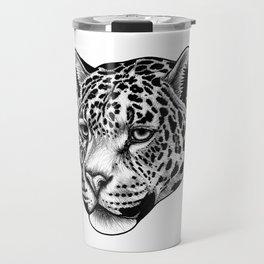 Jaguar - ink illustration Travel Mug