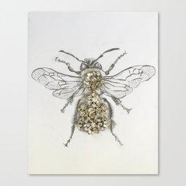 Rhinestone Queen Bee Mixed Media Art Print Canvas Print