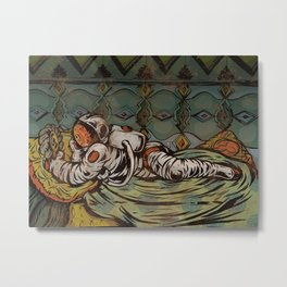 Space Odalisque Metal Print