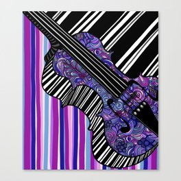 Study in the key of Purple - cello Canvas Print