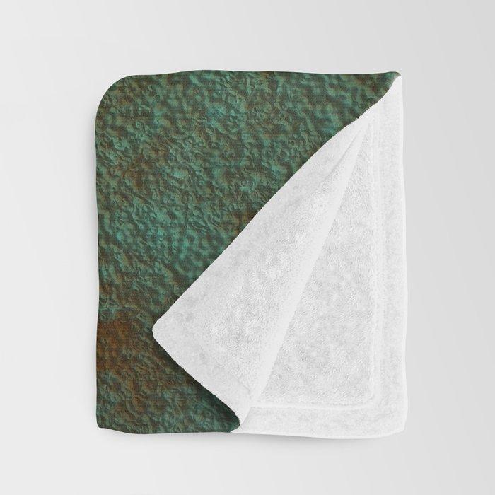 Green Patina Copper rustic decor Throw Blanket