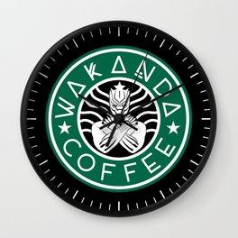 Wakanda Star Coffee Black Panther Wall Clock