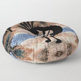 Kokopelli Southwest Desert Floor Pillow