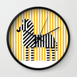 Zebra Stripes Wall Clock