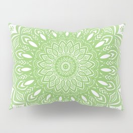 Light Lime Green Mandala Simple Minimal Minimalistic Pillow Sham