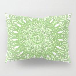 Light Lime Green Mandala Simple Minimal Minimalistic Pillow Sham