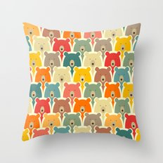 Bears cartoon pattern Throw Pillow