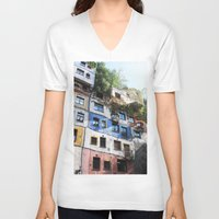 vienna V-neck T-shirts featuring  Austria Vienna  Travel Photography Fine Art Feature Sale Calender 2014 Iphone by josephinemok