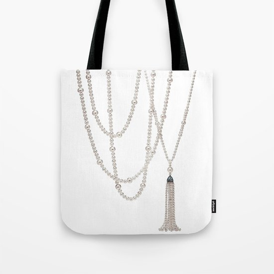 White Pearl Tote Bag